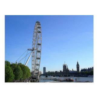 Carte Postale Roue de Ferris d'oeil de Postcardwith Londres