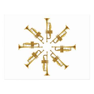 Carte Postale Roue des trompettes