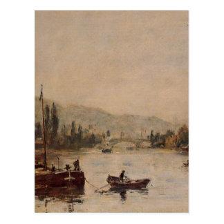 Carte Postale Rouen, la côte de Père Noël-Catherine, brume de