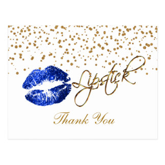Carte Postale Rouge à lèvres - Merci