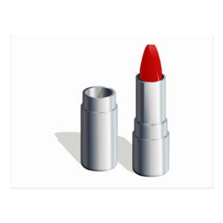 Carte Postale Rouge à lèvres rouge