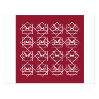 Carte Postale Rouge blanc d'ethno d'éléments de conception