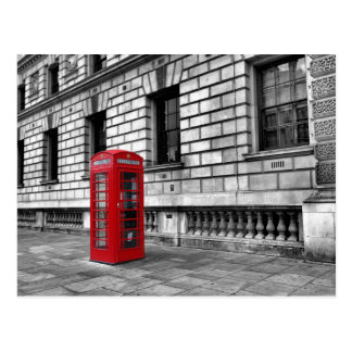 Carte postale rouge de boîte de téléphone de