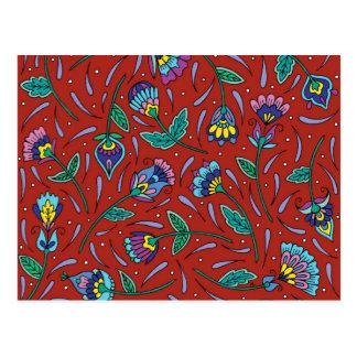 Carte Postale Rouge de Botanicals