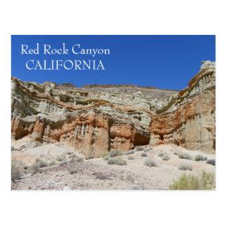 Carte postale rouge de canyon de roche !