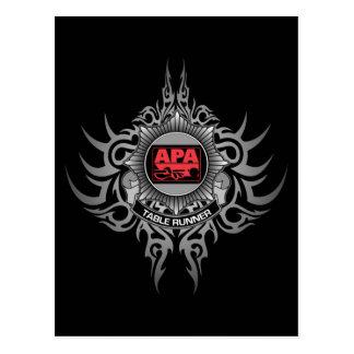 Carte Postale Rouge de coureur de Tableau d'APA
