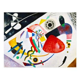 Carte postale rouge de tache de Kandinsky
