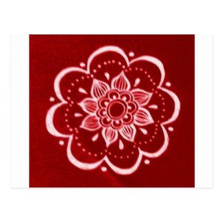 Carte Postale Rouge, henné