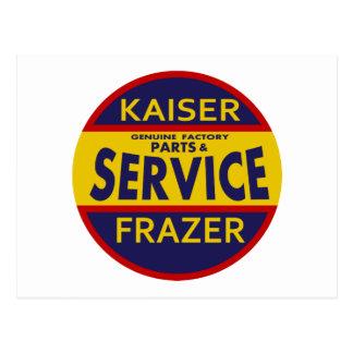 Carte Postale Rouge vintage/bleu de signe de service de Kaiser