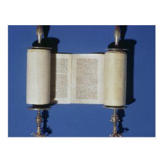 Carte Postale Rouleau miniature de Torah, 1765