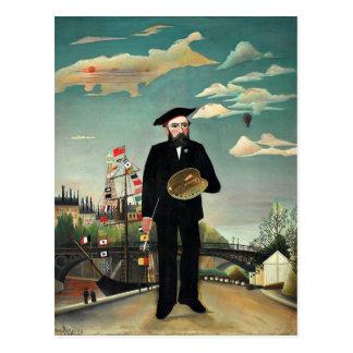 Carte Postale Rousseau - autoportrait, 1890