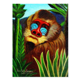 Carte Postale Rousseau - mandrin dans la jungle (adaptation)