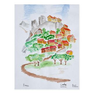 Carte Postale Route à la forteresse de Corte | Corse, France