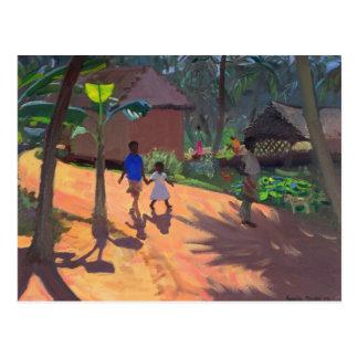 Carte Postale Route à la plage Kerala 1996 de Kovalum