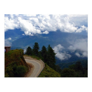 Carte Postale Route au Bhutan
