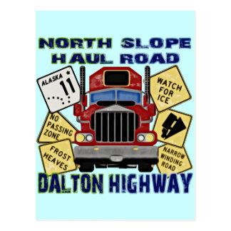 Carte Postale Route du nord de Dalton de route de transport de