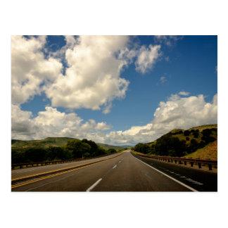 Carte Postale Route et ciel du Nouveau Mexique Etats-Unis