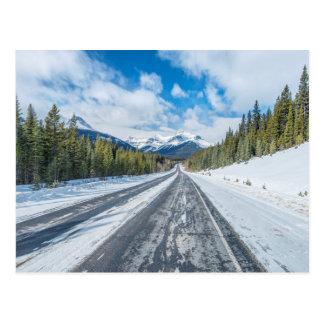 Carte Postale Route express de champs de glace