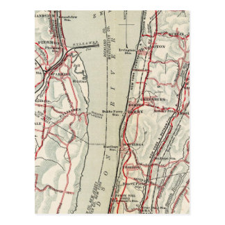 Carte Postale Routes de bicyclette à New York et Connecticut 11