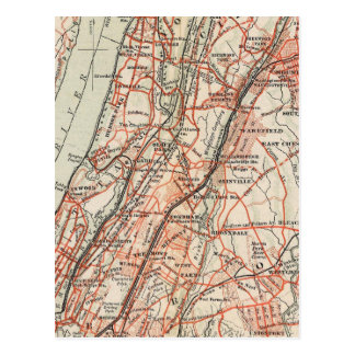 Carte Postale Routes de bicyclette à New York et Connecticut 3