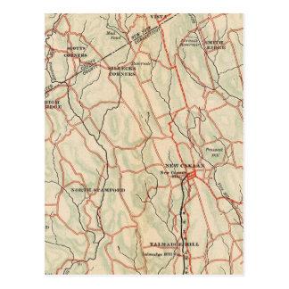 Carte Postale Routes de bicyclette à New York et Connecticut 5