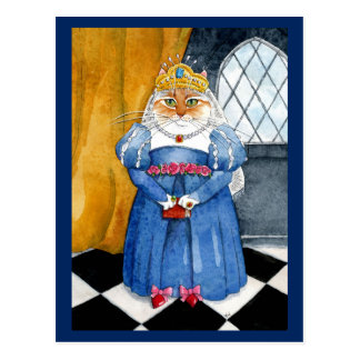 Carte postale royale de chat de la Reine Heather