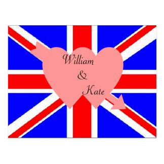 Carte postale royale de mariage de William et de