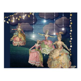 Carte Postale Royals français dansant sous les lumières de