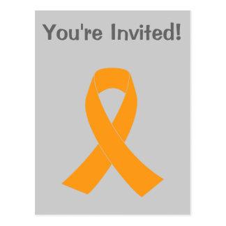 Carte Postale Ruban orange de conscience - leucémie,