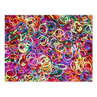 Carte Postale Rubberbands coloré