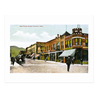 Carte Postale Rue centrale occidentale, Pocatello, Idaho