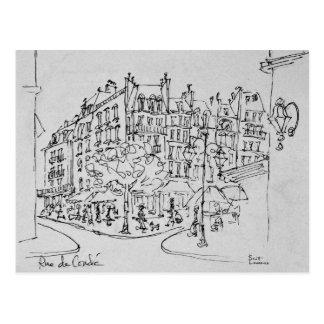 Carte Postale Rue de Conde | Jardin du Luxembourg, Paris