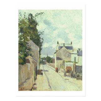 Carte Postale Rue de l'Ermitage, Pontoise, 1874 (huile sur la