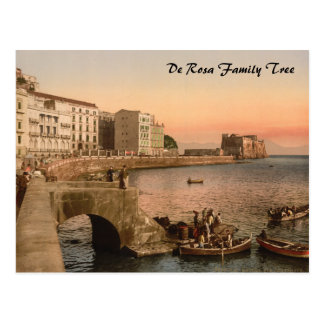 Carte Postale Rue de Partenope, Naples, Campanie, Italie