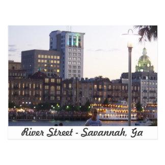 Carte Postale Rue de rivière - la savane, la Géorgie