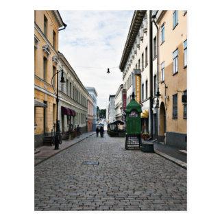 Carte Postale Rue de ville de Helsinki