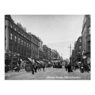 Carte Postale Rue du marché, Manchester, c.1910 2