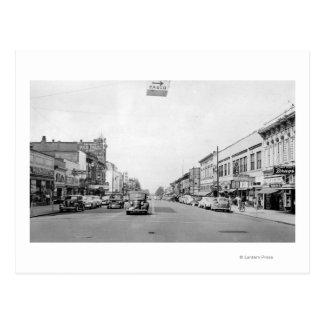 Carte Postale Rue principale dans Walla Walla, photographie de