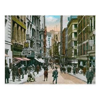 Carte Postale Rue vintage de Nassau, New York City