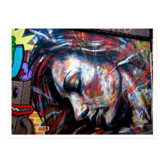 Carte Postale Ruelle de brique d'art de rue