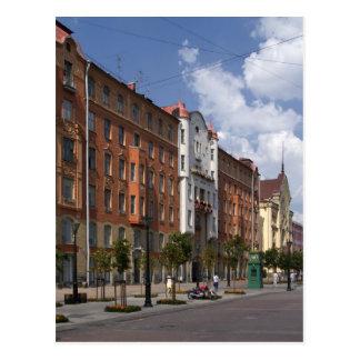 Carte Postale rues de St Petersburg, Russie