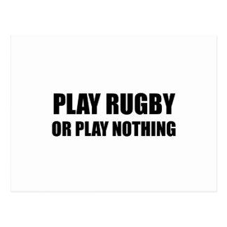 Carte Postale Rugby ou rien de jeu