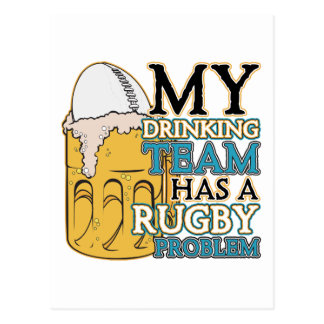 Carte Postale Rugby potable d'équipe
