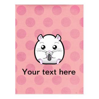 Carte Postale Rugular tout le hamster syrien blanc