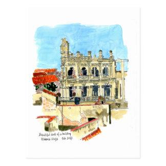 Carte Postale Ruine d'hôtel de Palacio Vienne, La Havane, Cuba