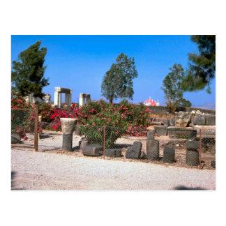 Carte Postale Ruines de Capernaum, Galilée