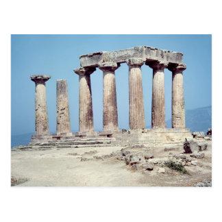 Carte Postale Ruines du temple d'Apollo, c.550 AVANT JÉSUS