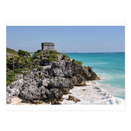 Carte Postale Ruines maya dans Tulum Mexique   Zazzle.fr
