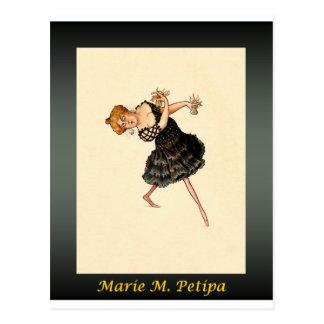 Carte Postale ~ russe Marie M. Petipa de caricature de ballerine