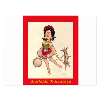 Carte Postale ~ russe Mathilda Kshesinska de caricature de